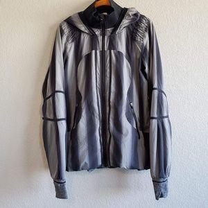 Lululemon | Vertical Stripe Athletic Hooded Jacket